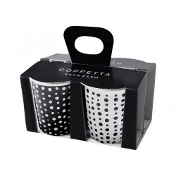 Set de 4 Tazas Expreso - Coppetta Set2 Blanco Y Negro - Asa Selection
