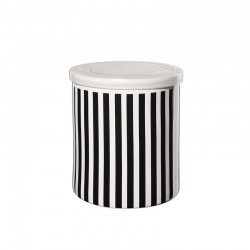 Jar Vertical Stripes ø13,5cm - New Memphis White And Black - Asa Selection