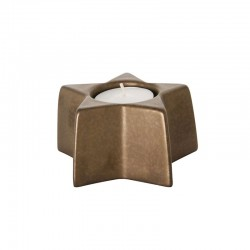 Portavela 5cm - X-mas Negro E Dorado - Asa Selection