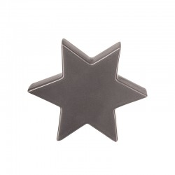 Decorative Star 16cm Grey - Xmas - Asa Selection