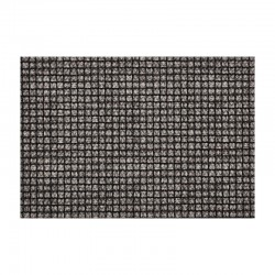 Placemat - Pvc Knitwear Squares Black And White - Asa Selection