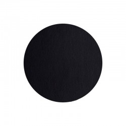 Mantel Individual Redondo - Leder Negro - Asa Selection