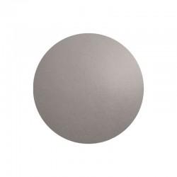Mantel Individual Redondo - Leder Cemento - Asa Selection
