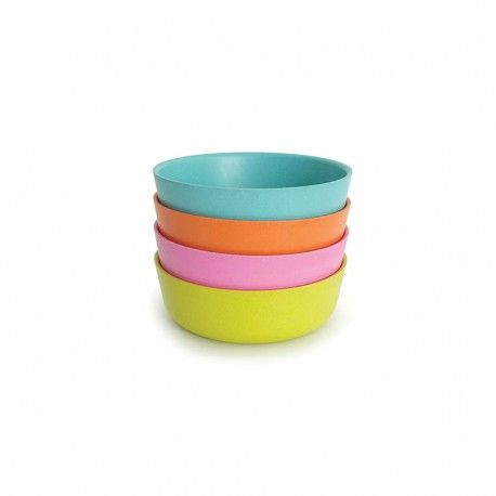 Set 4 Bowl - Bambino Lime, Rose, Persimmon And Lagoon - Biobu BIOBU EKB34529