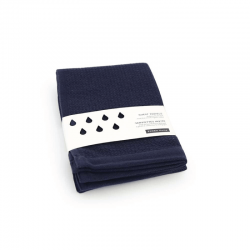 Guest Towel Set - Baño Midnight Blue - Ekobo Home