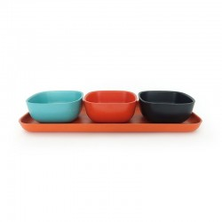 Apero Set - Gusto Persimmon, Lagoon And Black - Ekobo