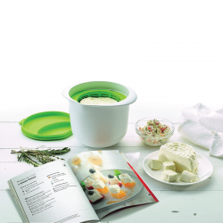 Kit Cheese Maker+Libro en Catalan Blanco Y Verde - Lekue