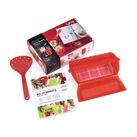 Kit Microwaver Cooker, Spoon And Cookbook (Cat) - Lekue | Kit Microwaver Cooker, Spoon And Cookbook (Cat) - Lekue