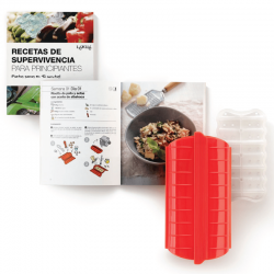 Kit Microwave Cooker+Cookbook in Catalan - Lekue