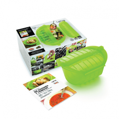 Kit Deep Steam Case And Cookbook - Lekue LEKUE LK3407600V09U600