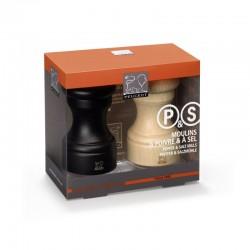 Conjunto de Molinillos 10cm - Duo Bistro Chocolate Y Natural - Peugeot Saveurs