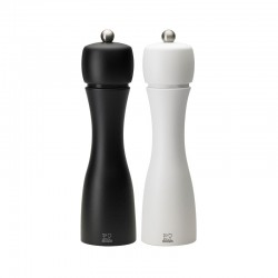 Conjunto Molinillo Sal y Pimienta 20cm - Tahiti Duo Blanco Y Negro - Peugeot Saveurs