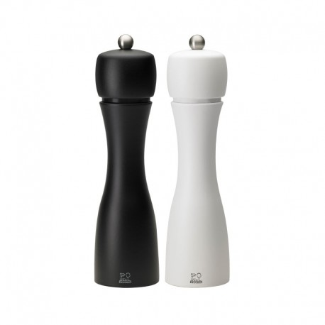 Salt and Pepper Mill Set 20cm - Tahiti Duo Black And White - Peugeot Saveurs PEUGEOT SAVEURS PG2/24277