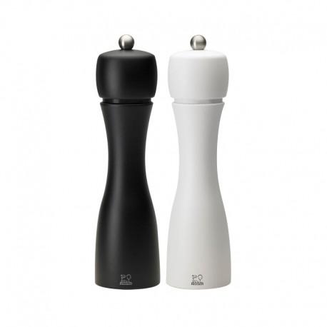 Salt And Pepper Mill Set - Tahiti Duo Black And White - Peugeot Saveurs | Salt And Pepper Mill Set - Tahiti Duo Black And Whi...