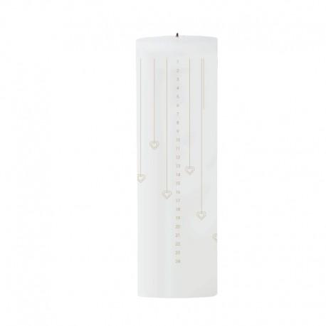 Vela De Navidad Corazones - Calendario Blanco/dorado - Stelton STELTON STT10223