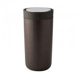 Thermal Cup 340ml - To Go Click Dark Brown, Metallic - Stelton STELTON STT580-17