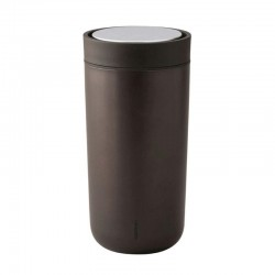 Vaso Térmico 340ml - To Go Click Marrón Oscuro, Metall - Stelton
