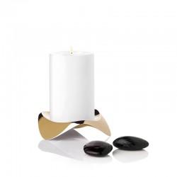 Candle Holder Brass Ø12Cm - Papilio Uno Gold - Stelton STELTON STTX-39-3