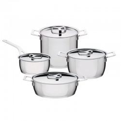 Conjunto de 7 Peças - Pot And Pans Prateada - A Di Alessi A DI ALESSI AALEAJM100S7
