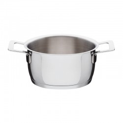 Casserole With Two Handles 16Cm - Pots And Pans Silver - A Di Alessi A DI ALESSI AALEAJM101/16