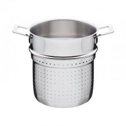Panela Perfurada para Massa - Pots And Pans Prata - A Di Alessi | A DI ALESSI
