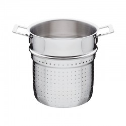 Pierced Basket - Pots And Pans Silver - A Di Alessi