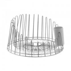 Dish Drainer - A Tempo Silver - A Di Alessi