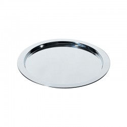 Round Tray With Graphic Engraving Ø37,5Cm Silver - Alessi