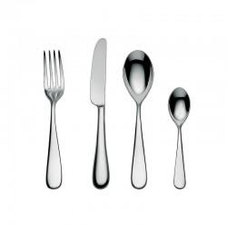 Cutlery Set 24 Pieces - Nuovo Milano Silver - Alessi ALESSI ALES5180S24