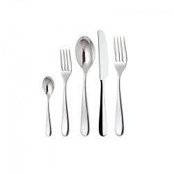 Cutlery Set 5 Pieces Monobloc - Nuovo Milano Silver - Alessi ALESSI ALES5180S5M