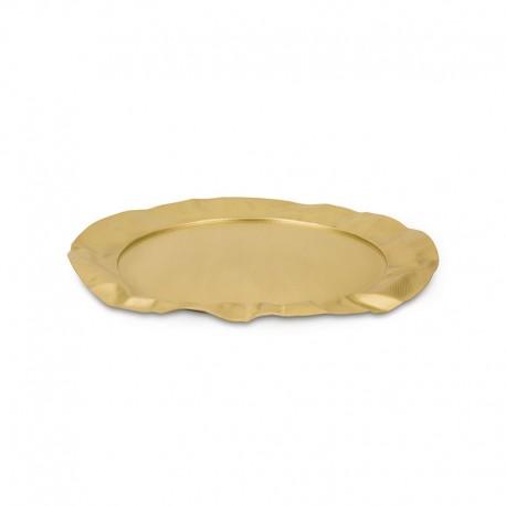 Tabuleiro Redondo - Foix Extra Ordinary Metal Dourado - Alessi ALESSI ALES90039BR