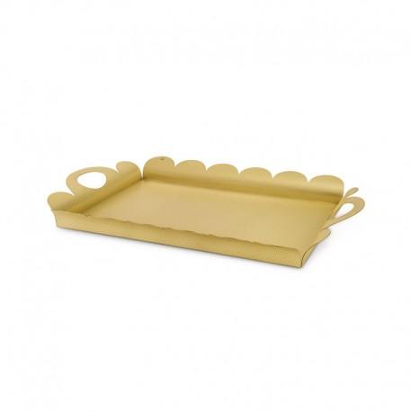 Tabuleiro Retangular 51,5Cm - Recinto Dourado - Alessi ALESSI ALESAM02BR