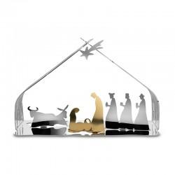 Pesebre de Navidad - Bark Crib Acero Y Dorado - Alessi