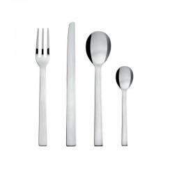 Cutlery Set 24 Pieces - Santiago Silver - Alessi ALESSI ALESDC05S24