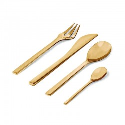Cutlery Set 24 Pieces - Colombina Collection Brass Gold - Alessi ALESSI ALESFM06S24BR