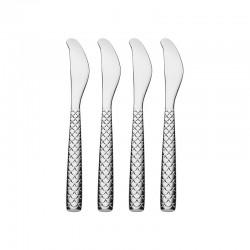 Set de 4 Cuchillos para Mantequilla - Colombina Fish Plata - Alessi