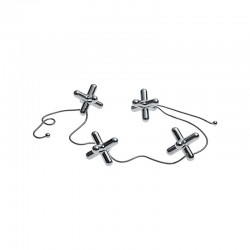 Trivet with Movable Pieces - Tripod Steel - Alessi
