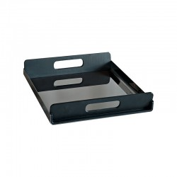 Tray With Handles 35Cm - Vassily Black - Alessi