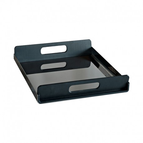 Tray With Handles 45Cm - Vassily Black - Alessi ALESSI ALESGIA01/45