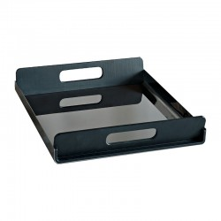 Tray With Handles 55Cm - Vassily Black - Alessi