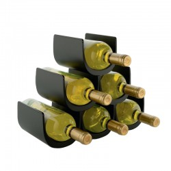 Modular Bottle-Holder (6 Bottles) - Noè Black - Alessi ALESSI ALESGIA13B