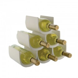 Modular Bottle-Holder (6 Bottles) - Noè White - Alessi ALESSI ALESGIA13W