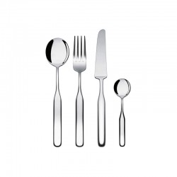 Cutlery Set 24 Pieces - Collo-alto Silver - Alessi ALESSI ALESIS02S24
