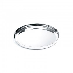 Round Tray Ø35Cm Silver Mirror - Alessi