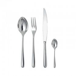 Cutlery Set 24 Pieces - Caccia Silver - Alessi ALESSI ALESLCD01S24
