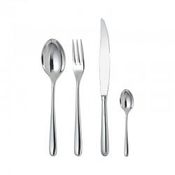 Cutlery Set 24 Pieces Monobloc - Caccia Silver - Alessi