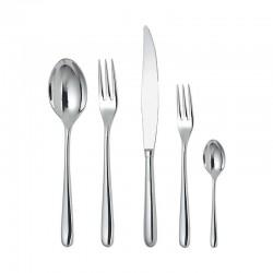 Cutlery Set 5 Pieces - Caccia Silver - Alessi ALESSI ALESLCD01S5