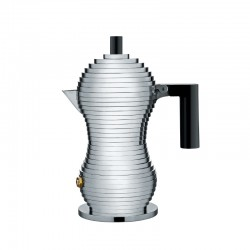 Espresso Coffee Maker 70ml - Pulcina Grey And Black - Alessi