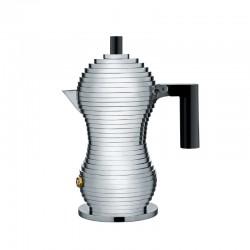Espresso Coffee Maker 70ml - Pulcina Grey And Black - Alessi ALESSI ALESMDL02/1B
