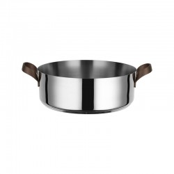 Low Casserole with Handles 3,25lt - Edo Steel - Alessi ALESSI ALESPU102/24